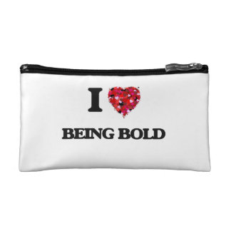 I Love Being Bold Cosmetics Bags