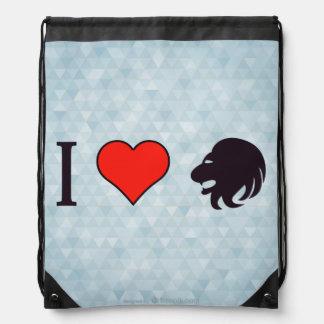 I Love Being Brave Drawstring Bag