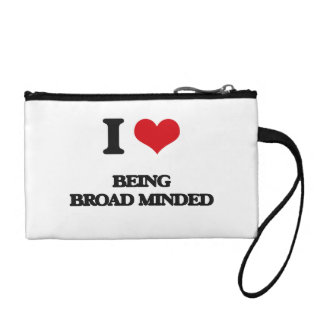 I Love Being Broad-Minded Coin Purses
