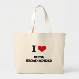I Love Being Broad-Minded Tote Bags