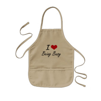 I Love Being Busy Artistic Design Kids' Apron
