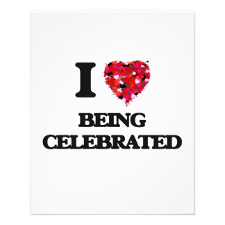 """I love Being Celebrated 4.5"""" X 5.6"""" Flyer"""
