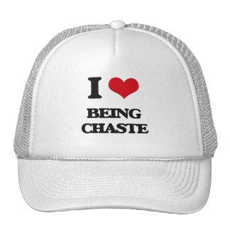 I love Being Chaste Mesh Hat