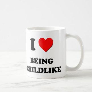 I love Being Childlike Classic White Coffee Mug