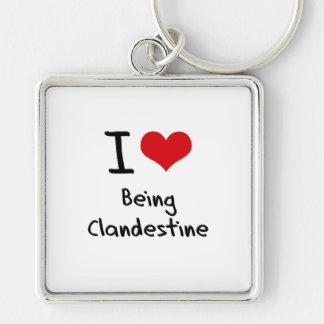 I love Being Clandestine Keychains
