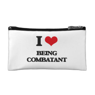 I love Being Combatant Makeup Bags