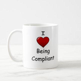 I Love Being Compliant Classic White Coffee Mug