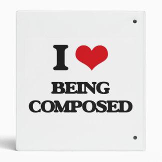 I love Being Composed Vinyl Binder