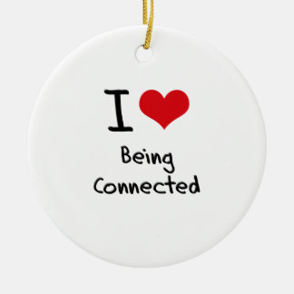 I love Being Connected Double-Sided Ceramic Round Christmas Ornament