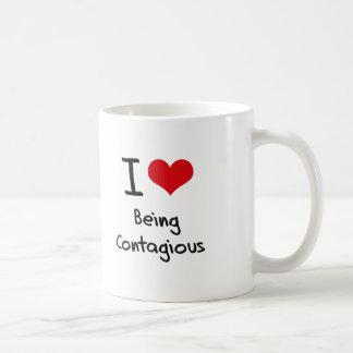 I love Being Contagious Classic White Coffee Mug
