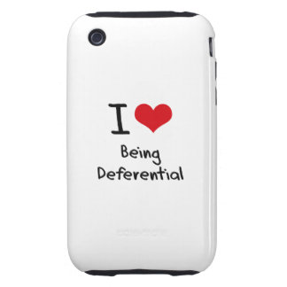 I Love Being Deferential Tough iPhone 3 Cases
