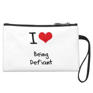 I Love Being Defiant Wristlet Purses