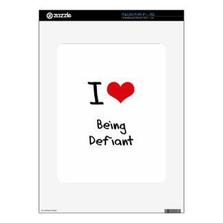 I Love Being Defiant iPad Skins