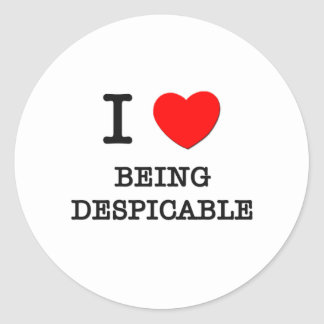 I Love Being Despicable Classic Round Sticker