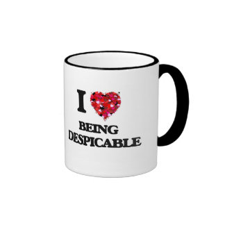 I Love Being Despicable Ringer Coffee Mug
