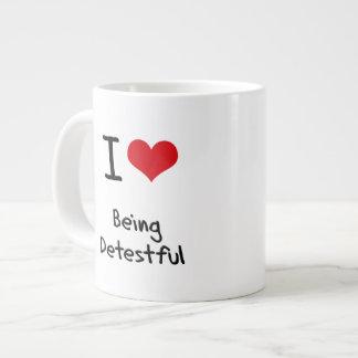 I Love Being Detestful 20 Oz Large Ceramic Coffee Mug