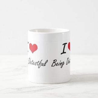 I Love Being Detestful Artistic Design Classic White Coffee Mug