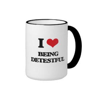 I Love Being Detestful Ringer Coffee Mug