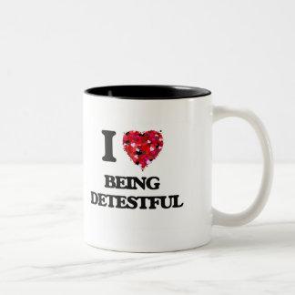I Love Being Detestful Two-Tone Coffee Mug