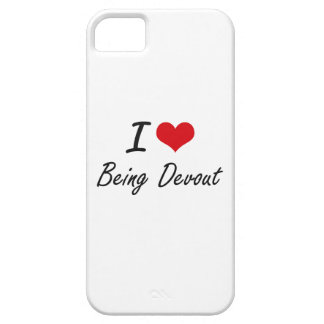 I Love Being Devout Artistic Design iPhone 5 Cover