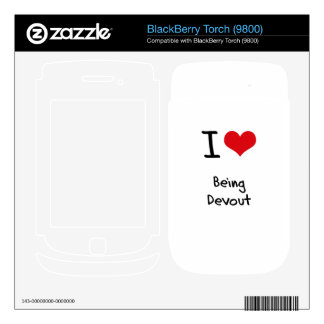 I Love Being Devout Decals For BlackBerry
