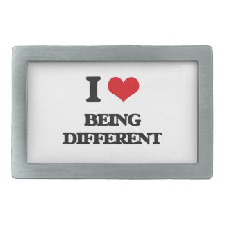 I Love Being Different Belt Buckles