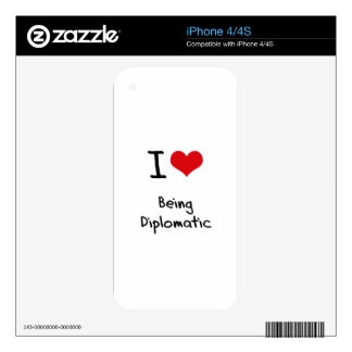 I Love Being Diplomatic Decal For iPhone 4S