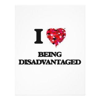 "I Love Being Disadvantaged 8.5"" X 11"" Flyer"
