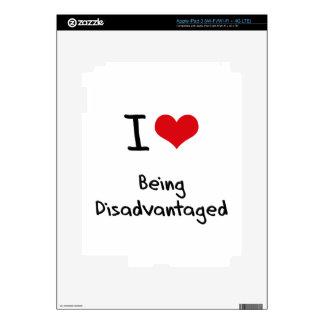 I Love Being Disadvantaged iPad 3 Skin