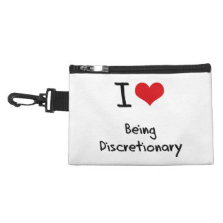 I Love Being Discretionary Accessories Bags