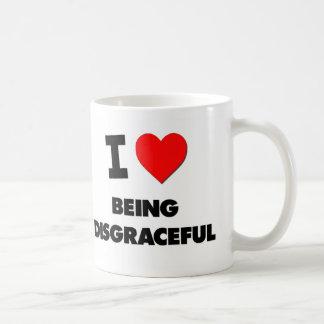 I Love Being Disgraceful Classic White Coffee Mug