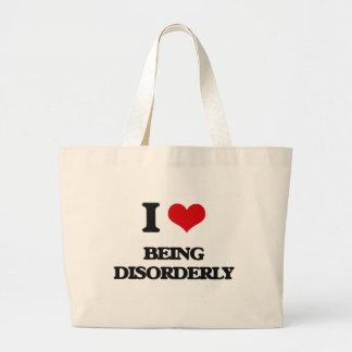 I Love Being Disorderly Jumbo Tote Bag