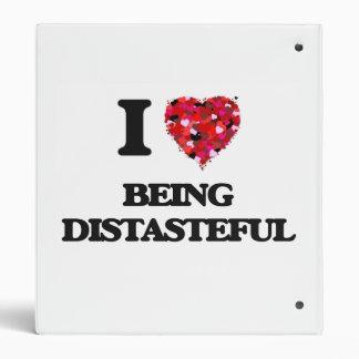 I Love Being Distasteful 3 Ring Binders