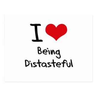 I Love Being Distasteful Postcard