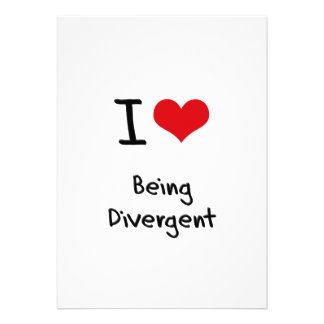 I Love Being Divergent Custom Invitations