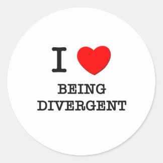 I Love Being Divergent Classic Round Sticker