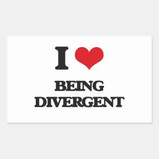 I Love Being Divergent Rectangular Sticker