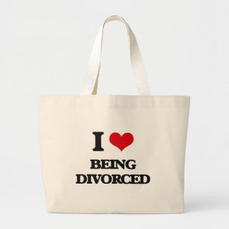 I Love Being Divorced Jumbo Tote Bag
