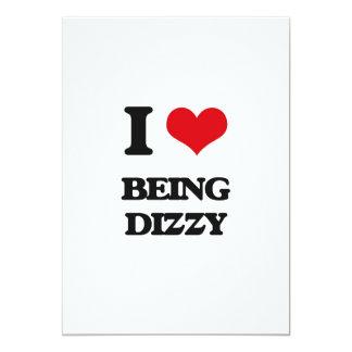 "I Love Being Dizzy 5"" X 7"" Invitation Card"