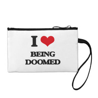 I Love Being Doomed Coin Wallets