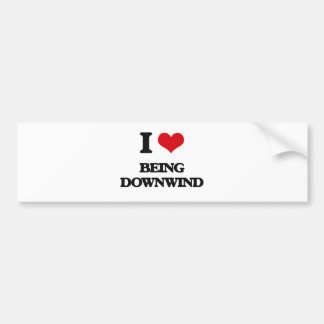 I Love Being Downwind Car Bumper Sticker