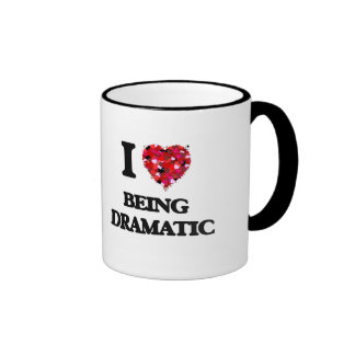 I Love Being Dramatic Ringer Coffee Mug