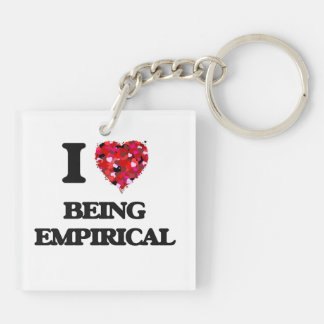 I love Being Empirical Double-Sided Square Acrylic Keychain