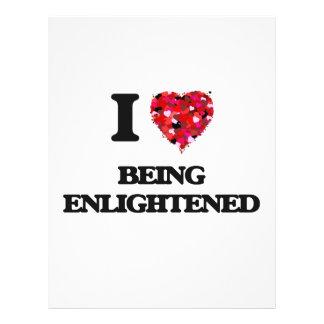 "I love Being Enlightened 8.5"" X 11"" Flyer"