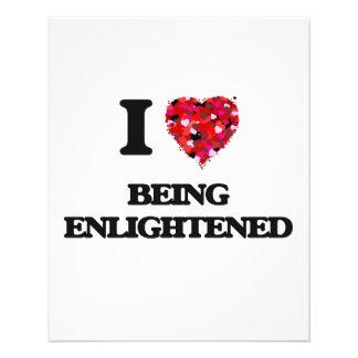 "I love Being Enlightened 4.5"" X 5.6"" Flyer"