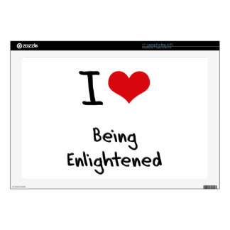 """I love Being Enlightened 17"""" Laptop Decal"""