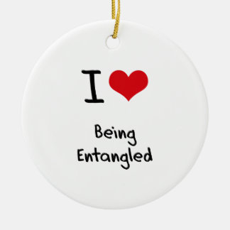 I love Being Entangled Double-Sided Ceramic Round Christmas Ornament