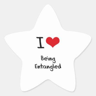 I love Being Entangled Star Sticker