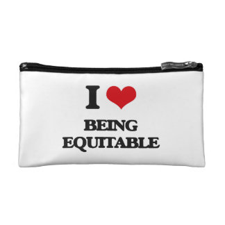 I love Being Equitable Cosmetics Bags