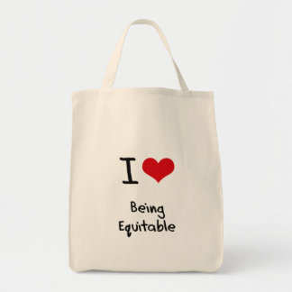 I love Being Equitable Canvas Bag